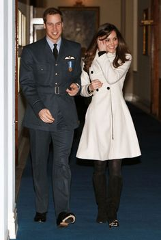 Their relationship blossomed and the royal sweetheart applauded proudly once again when William gained his pilot's wings
