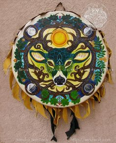 Love this painted drum!