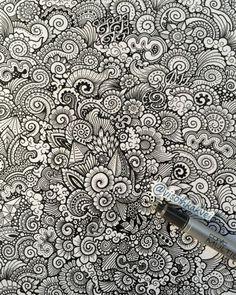 Flower and leaf based doodle/Artist: visothkakvei