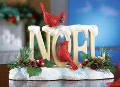 LED Cardinal Noel Tabletop Christmas Decoration