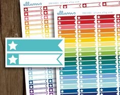 Book Planner Stickers PRINTABLE Instant Download por ellums