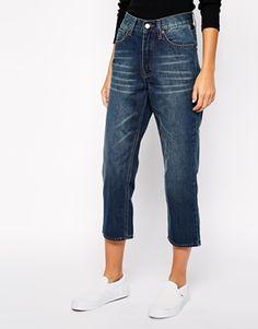 Укороченные джинсы в винтажном стиле Cheap Monday