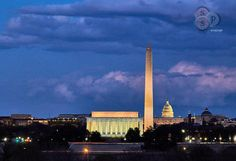 The National Mall  Cloudy Sky  Cloudy  Sunset  by SoulSearcherShop