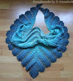 Laurelin Handmade by AnneluM Crochet Lace Scarf, Crochet Vest Pattern, Crochet Scarves, Knitting Patterns, Crochet Patterns, Back Post Double Crochet, Diy Crafts Crochet, Modern Crochet, Crochet For Beginners