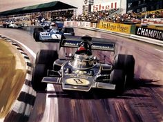 Michael Turner (b.1934) —   Fittipaldi In The JPS Lotus 72 (1024×768)