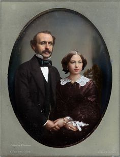 Husband & Wife, May Ordinary people Victorian Portraits, Victorian Photos, Antique Photos, Vintage Pictures, Vintage Photographs, Old Pictures, Vintage Images, Old Photos, Victorian Era