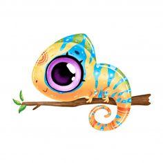 Baby Animal Drawings, Cartoon Drawings Of Animals, Cool Art Drawings, Art Drawings Sketches, Art And Illustration, Cute Cartoon, Cartoon Art, Lama Animal, Easy Doodle Art