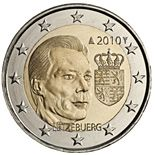2 euro Coat of arms of the Grand Duke  - 2010 - Series: Commemorative 2 euro coins - Luxembourg