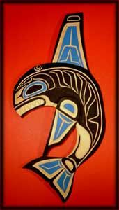 Native American, Pacific Northwest Killer Whale, Orca art. Inspiration for a story based on Inuit legend and a free-writing exercise.