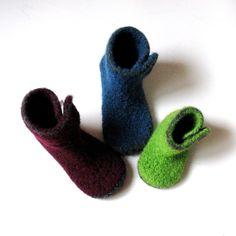 Felted Kids Slipper Crochet Pattern  INSTANT DOWNLOAD. $3.50, via Etsy.