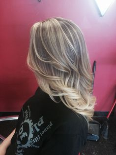 Hair by Michelle. Blonde ombré. Baby lights