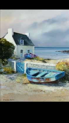 """Search results for """"Jean-Pierre Bertaux-Marais"""" - Watercolor Watercolor Landscape, Landscape Art, Landscape Paintings, Watercolor Paintings, Watercolour, Beautiful Paintings, Beautiful Landscapes, Boat Art, Boat Painting"""