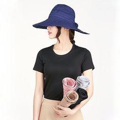 d5fdfecc1eb Women Summer Foldable Anti-UV Protective Beach Sun Hat Outdoor Driving Wide  Brim Visor Cap is hot sale on Newchic.