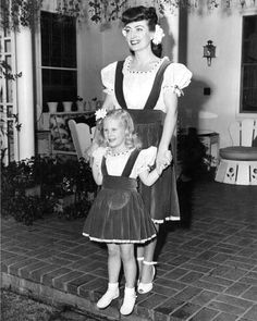Joan and Christina Crawford Her poor daughter having to deal with a mother like that!!