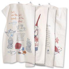 christmas tea towels - love them