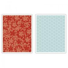 Sizzix Embossing Folders 2PK - Flower Rings & Clusters