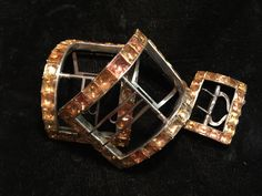 A rare pair of georgian topaz and silver shoe buckles with breeches   buckle