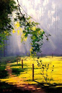 grajm grecken artist | COSICAS VARIAS: Silent Autumn | Graham Gercken 1960 | Australia pintor ...