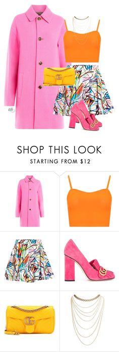 """Untitled #1114"" by elli-skouf ❤ liked on Polyvore featuring Just Cavalli, WearAll, Jeremy Scott, Gucci and Wet Seal"