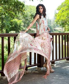 Shehla Chatoor Summer Luxury Lawn 2016 Featuring Narhis Fakhri