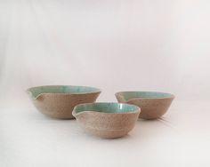 Pottery bowls set Ceramic bowls Serving ceramic dishware