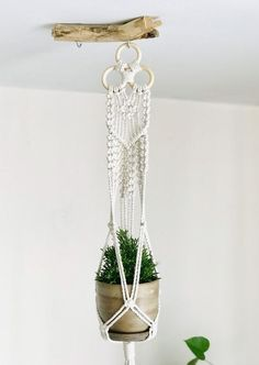 Fantastic Pics Set of two macrame plant hangers, modern unique plant hanging, bohemian pot holder, boho style Strategies If you have small room for the keeping of flowerpots, hanging flowerpots are a excellent Option to r Macrame Plant Hanger Patterns, Macrame Wall Hanging Diy, Macrame Plant Holder, Macrame Plant Hangers, Macrame Art, Macrame Knots, Macrame Modern, Micro Macrame, Indoor Planters