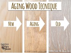Aging wood technique http://countrydesignstyle.com #agingwood #diy #rusticstyle