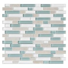 American Olean Color Appeal Pacific Coast x Unglazed Glass Random Mosaic Wall Tile at Lowe's. Color Appeal wall and mosaic glass tile features updated colors, classic subway tile looks, and eye-catching mosaics. Color Appeal offers a sophisticated Stone Mosaic Tile, Mosaic Wall Tiles, Mosaic Glass, Mosaic Mirrors, Glass Tiles, Mosaic Art, Stained Glass, Beach Bathrooms, Modern Bathrooms