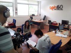 Esta mañana nos han visitado a la oficina un equipo del programa de Canal Sur, 'Experiencia TV', con Cristian Gómez a la cabeza, para grabarnos para un reportaje que se emitirá sobre septiembre.