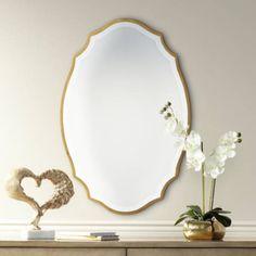 Quoizel Monarch Gallery Gold 24 Inch X 36 Inch Wall Mirror Mirror Set, Mirror Door, Mirror Bathroom, Master Bathroom, Beveled Glass, Round Mirrors, New Room, Gallery, Lamps