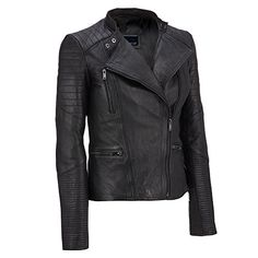 Wilsons Leather Womens Asymmetric Leather Moto Jacket W/ Quilting Details L Blac   #FreedomOfArt  Join us, SUBMIT your Arts and start your Arts Store   https://playthemove.com/SignUp
