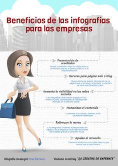 Hola: Una infografía con 6 beneficios de las infografías para tu empresa. Vía Un saludo