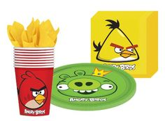Angry Birds party supplies kit for 8 guests includes plates, cups and napkins $9.42