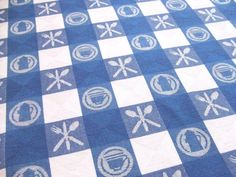 Vintage Blue and White Check Tablecloth by by LinensandThings, $36.00  [never had this pattern]