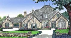 European Style House Plans - 3290 Square Foot Home , 2 Story, 4 Bedroom and 3 Bath, 3 Garage Stalls by Monster House Plans - Plan 8-509