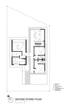 Image 22 of 22 from gallery of Travertine Dream House / Wallflower Architecture + Design. second floor plan