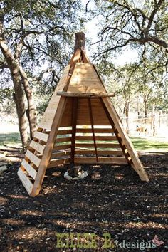 A wood tepee