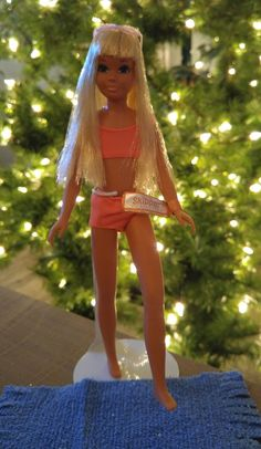 Malibu Skipper dolls were sold for many years. The first issue was called The Sun Set Malibu Skipper #1069 and was on the market from 1971 - 1974. She was dressed in an orange two-piece swimsuit and came with lavender sunglasses and a blue terrycloth towel.