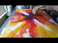 Acrylic Fluid Pouring,Another Technique. Acrylic Painting Lessons, Pour Painting, Painting Tips, Acrylic Pouring Techniques, Fluid Acrylics, Diy Arts And Crafts, Art Techniques, Decoupage, Parchment Paper