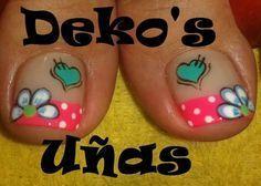 result for deko uñas para pies Pedicure Designs, Pedicure Nail Art, Toe Nail Designs, Toe Nail Art, Hair And Nails, My Nails, Cute Pedicures, Green Nail Designs, Feet Nails