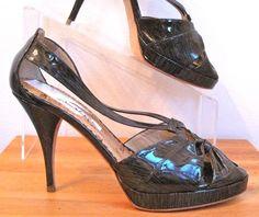 OSCAR de la RENTA sz 37, Cork Platform Sandals sz 7, on ebay $149