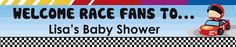 Nascar Inspired Racing - Personalized Baby Shower Banners