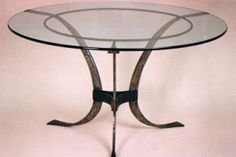 wrought iron circular dinning table custom size, by ferran Povo