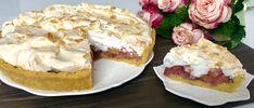 Kruche ciasto z bezą i rabarbarem - Blog z apetytem Camembert Cheese, French Toast, Food And Drink, Pie, Menu, Breakfast, Recipes, Blog, Cakes