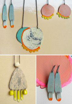 jewelleri, necklac, paint, adorn, silver jewelry, jewelri, earring, natalia miloszpiekarska, natalia mp
