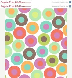 New Year Sale  Pastel Dots and Circles  by Sweetbobbinsfabric, $2.09