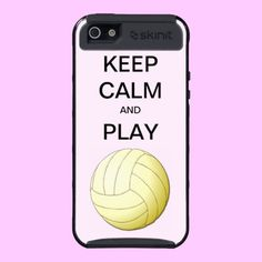 KEEP CALM AND PLAY VOLLEYBALL SKINIT CASE IPHONE5 iPhone 5 CASE #volleyball #phonecase #iphone #cases #sports #keepcalm