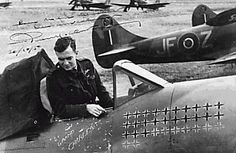 With a Tempest, the French-Brazilian Pierre Clostermann was victorious in many battles in World War II. Ww2 Aircraft, Military Aircraft, Hawker Tempest, Brazilian Air Force, Hawker Typhoon, Famous French, Royal Air Force, Armed Forces, World War Two
