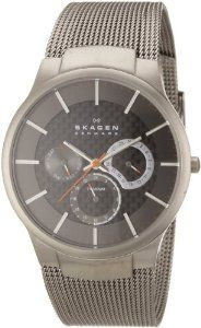 The Skagen Men's Carbon Fiber Dial Titanium Watch is a beautifully designed designer watch. The manufacturer of the watch Skagen Designs. Titanium Watches, Cool Watches, Watches For Men, Casual Watches, Wrist Watches, Swatch, Watch Cases For Men, Adidas, Style