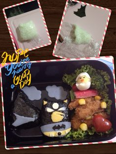 Angry bird batman is trying to help a lil chick ;)